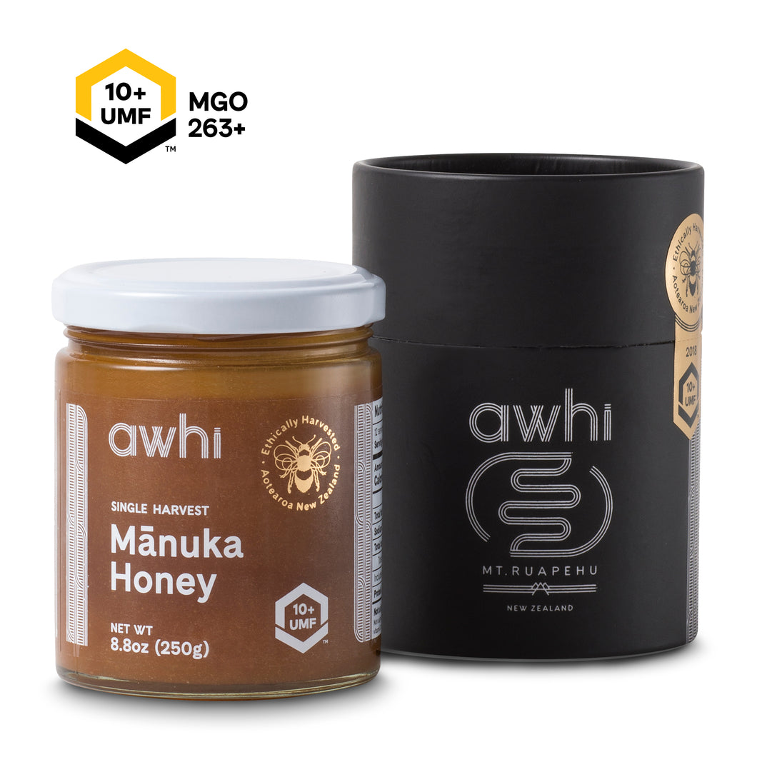 UMF10+ Awhi Single Harvest Manuka Honey (MGO263+) 8.8oz