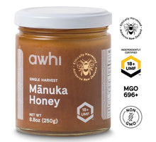 Load image into Gallery viewer, UMF18+ Awhi Single Harvest Manuka Honey (MGO696+) 8.8oz