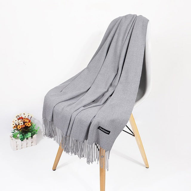 Real Cashmere Scarf Winter Shawl
