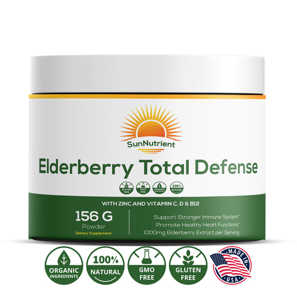 Elderberry Total Defense | Zinc & Vitamin C | 156g Powder