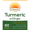 Load image into Gallery viewer, SunNutrient tumeric with ginger supplement Front Label