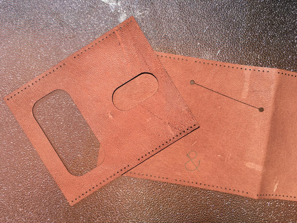 Leather with Cosmetic Defects Sewn