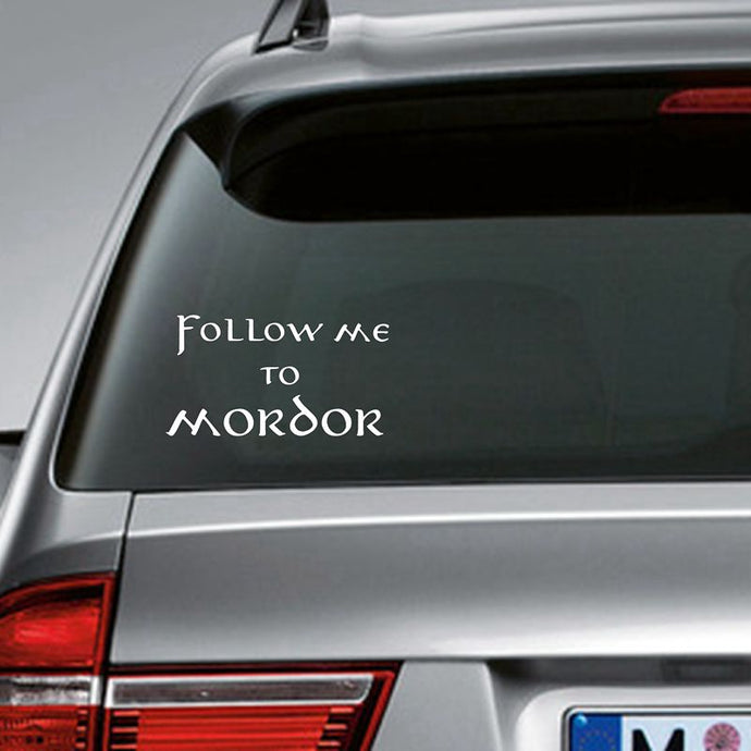 Autocollant Voiture Follow Me To Mordor