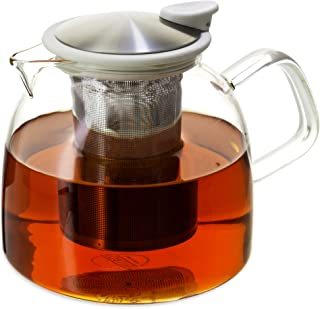 Bell Glass Teapot with Basket Infuser, 43 oz. /1280ml