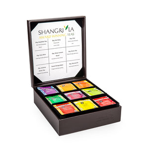 Organic Luxury Tea Bag Collection - Leather Gift Box