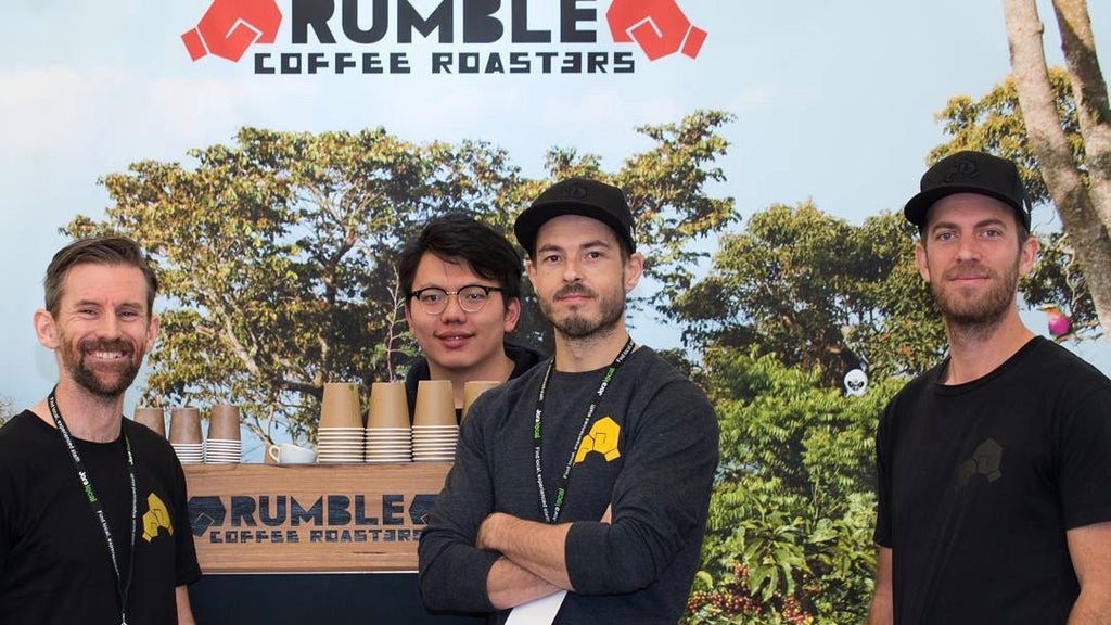 The team who roasts our coffee, Rumble.