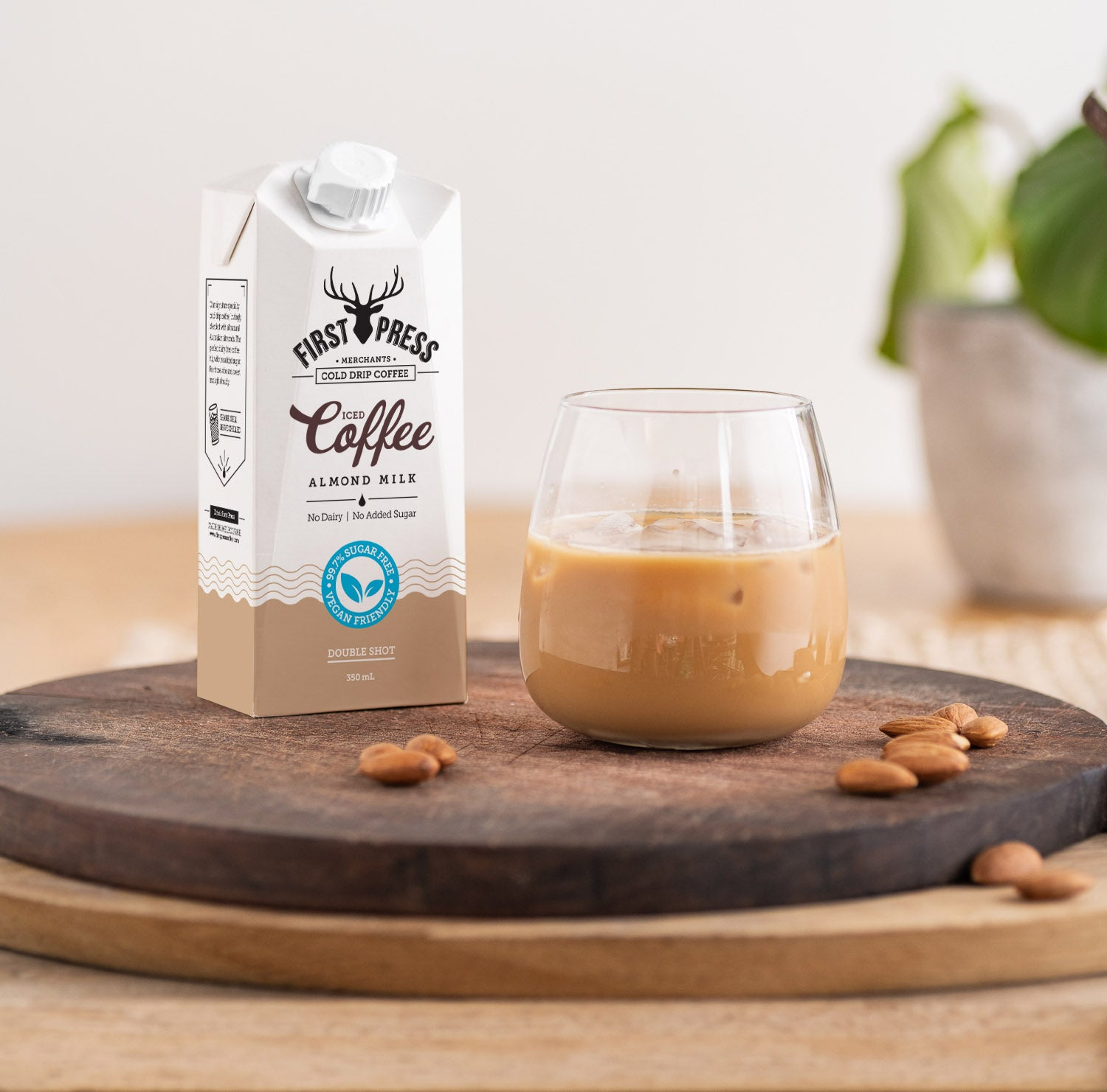 Iced Coffee Almond Milk - No Added Sugar | First Press Cold Drip Coffee | Melbourne Made