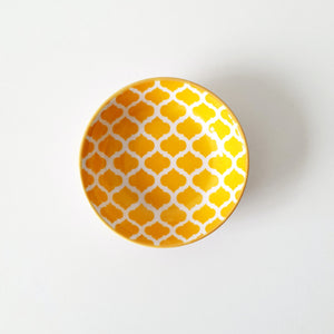 Yellow & White Tile Skincare Dish
