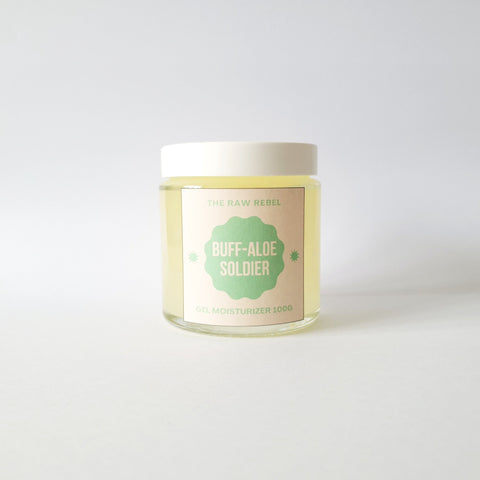 Buff-aloe Soldier Gel Moisturizer (customizable)