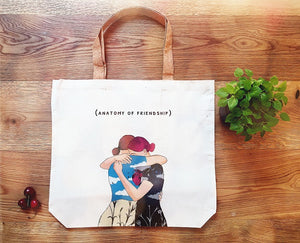 Tote bag Anatomy of friendship
