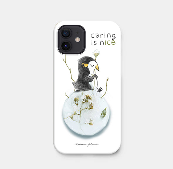Caring is nice - Cover rigida per iPhone