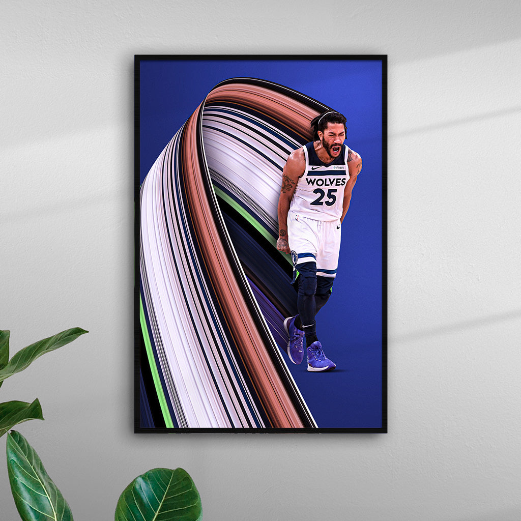 Derrick Rose Pixel Stretch Print