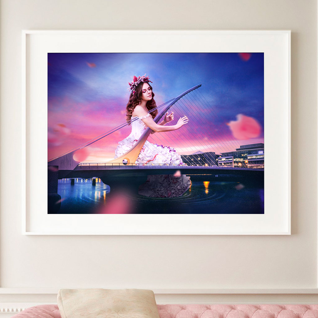 Lady Liffey Print - Wall Art Prints by Adam Ingle