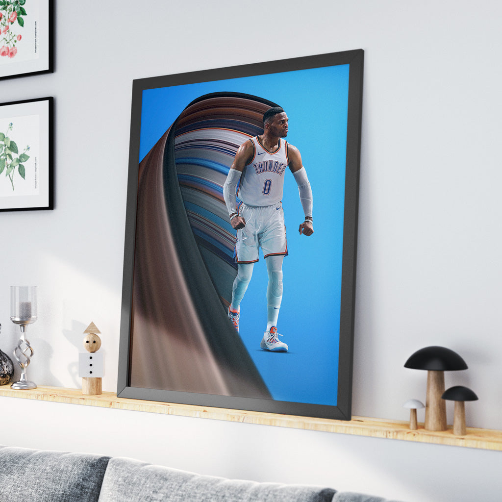 Russell Westbrook Pixel Stretch Print