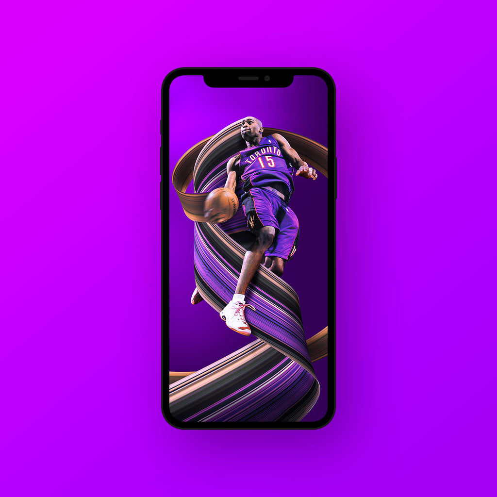 Vince Carter Pixel Stretch Wallpaper - Wall Art Prints by Adam Ingle