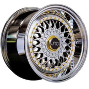JNC Wheels JNC004S Platinum Gold Rivets