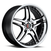 MRR Wheels RW2 Black Machined Lip