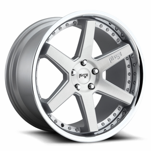 Niche Wheels Altair Brushed Silver Chrome Lip