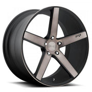 Niche Wheels Milan Black Machined with Dark Tint