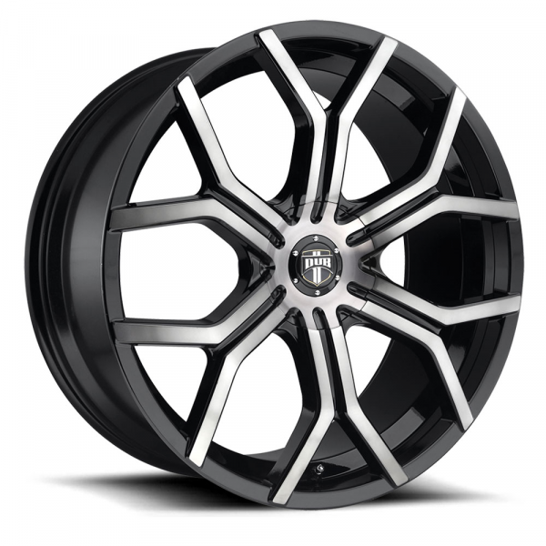Dub Wheels Royalty Gloss Black Machined Dark Tint
