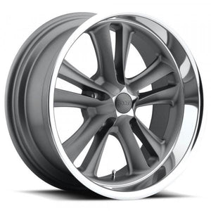 Foose Wheels Knuckle Gray Diamond Cut Lip