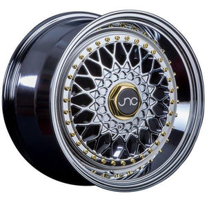 JNC Wheels JNC004S Hyper Black Gold Rivets