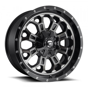 Fuel Off Road Wheels CRUSH Matte Black Machined