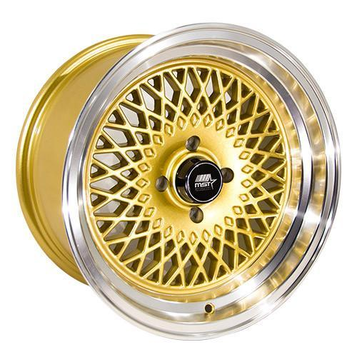 MST Wheels MT13 Gold Machined Lip