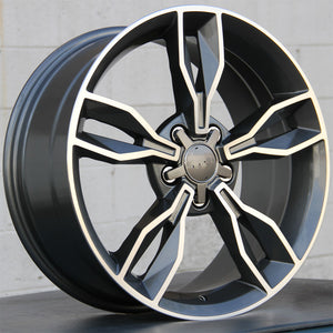 Audi Wheels 5507 19x8.5 5x112 Gunmetal Machined fit A3 S3 A4 S4 A5 S5 A6 Q3 Q5