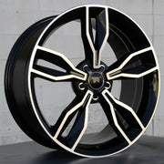 Audi Wheels 5507 20x8.5 5x112 Black Machined fit A4 S4 A5 S5 A6 S6 A7 A8 Q3 Q5 TT