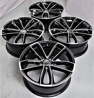 Audi Wheels 5597 20x9 5x112 Black Machined fit A4 S4 A5 S5 A6 S6 A7 A8 Q3 Q5 TT