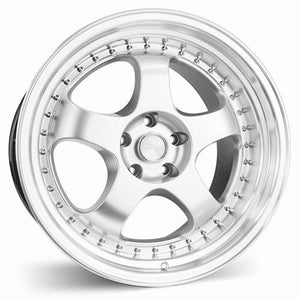 ESR Wheels SR06 Hyper Silver Machine Lip