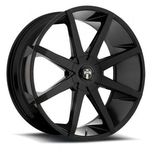 Dub Wheels Push Gloss Black Milled
