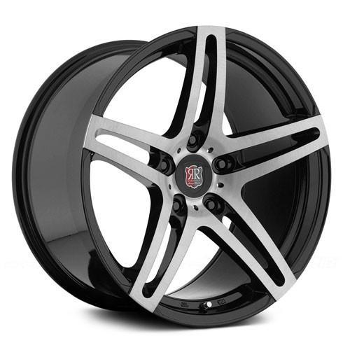 MRR Wheels RW5 Black Machined Face