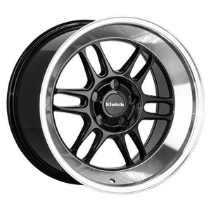 Klutch Wheels ML1 (Deep) Gloss Black Machined Lip