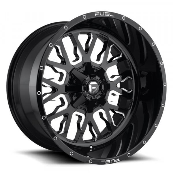 Fuel Off Road Wheels STROKE Gloss Black Milled