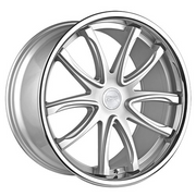 Concept One Wheels CR1 Silver Machined Chrome Lip