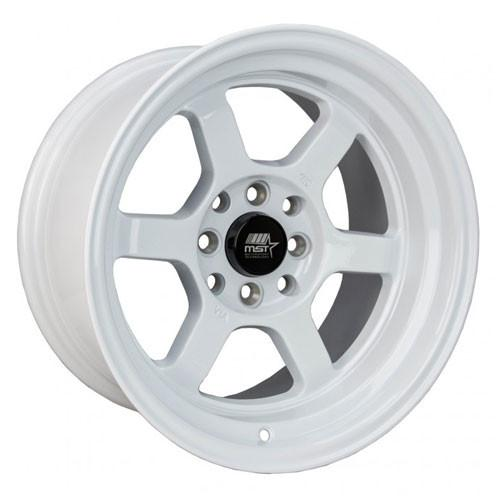MST Wheels Time Attack Glossy White