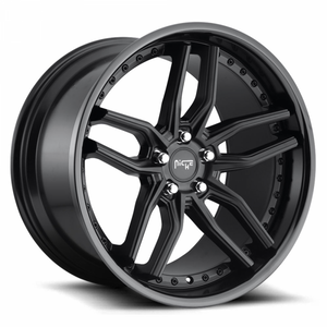 Niche Wheels Methos Satin Black Gloss Black Lip