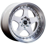 JNC Wheels JNC010 White Machined Lip