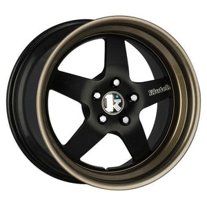 Klutch Wheels SL5 Matte Black Gloss Bronze Lip