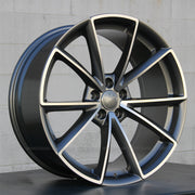 Audi Wheels 5477 19x8.5 5x112 Gunmetal Machined fit A3 S3 A4 S4 A5 S5 A6 Q3 Q5