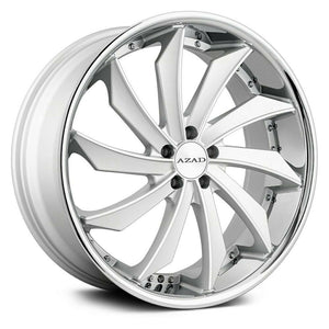 Azad Wheels AZ911 Matte Silver Stainless Chrome Lip