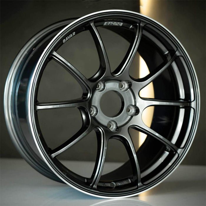 Bavar Racing Wheels BV02 Gunmetal Machined Lip