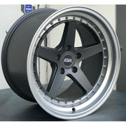 ESR Wheels CS5 Matte Graphite Machine Lip