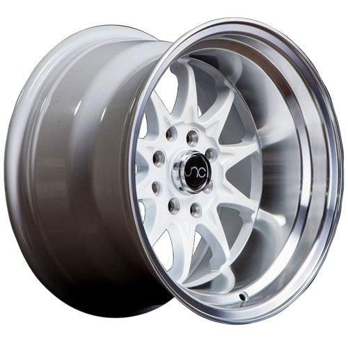 JNC Wheels JNC003 White Machined Lip