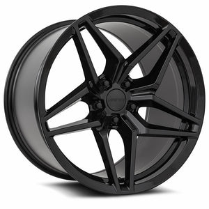 Chevy Wheels M755 18x9.5/18x11 5x120.65 Gloss Black fit Corvette C5 C5 Z06 C6 C7 C7 Z51 ZR1 Style
