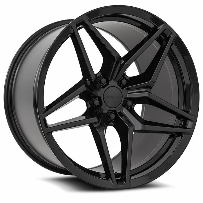 Chevy Wheels M755 19x9.5/19x11 5x120.65 Gloss Black fit Corvette C5 C5 Z06 C6 C7 C7 Z51