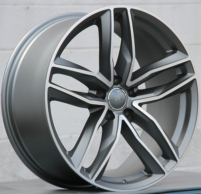 Audi Wheels 1196 21x9.5 5x112 Gunmetal Machined fit A5 S5 A6 S6 A7 A8 Q3 Q5 SQ5 Q7 Q8