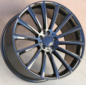 Mercedes Benz Wheels 1241 20x8.5/20x9.5 5x112 Gloss Black fit E CL CLK SLK S SL Class 300 350 450 550